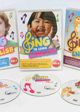 WINK to LEARN - SING to LEARN English 3-in-1 3-DVD Bundle
