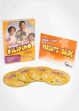WINK to LEARN - Speak & Read Filipino 4-DVDs Program
