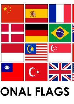 200 All Over the World Flashcards - Asia, Europe, America, Flags