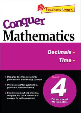 Conquer Mathematics Decimals - Time Book 4