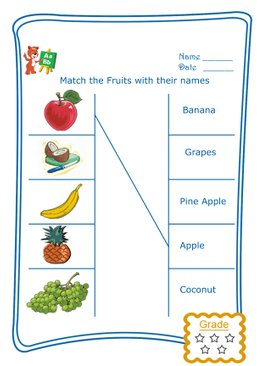 Match the Word - Fruits
