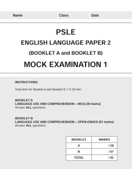 PSLE English Mock Examinations (Paper 2)