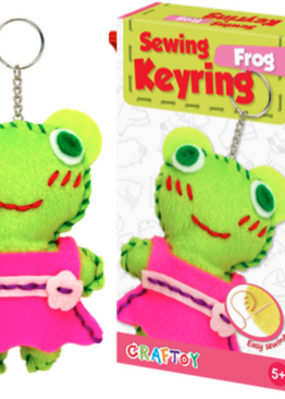 Creative Play N Learn Craft Frog Sewing Keyring Party Fun Gift
