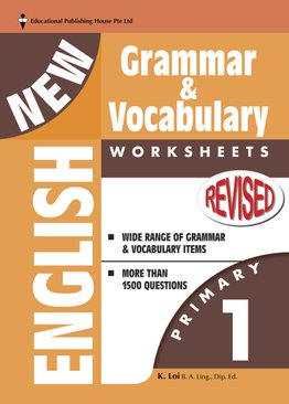 New English Grammar & Vocab Worksheet - Primary 1