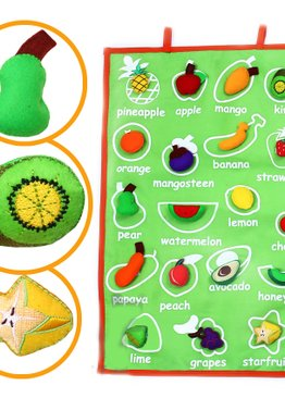 Fruitilicious Fabric Hanging Chart