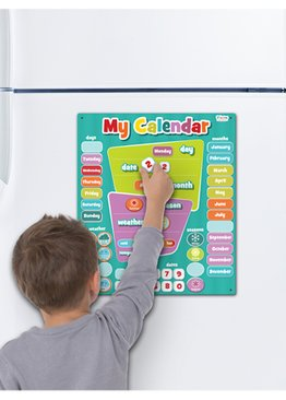 Large Magnetic Calendar Blue
