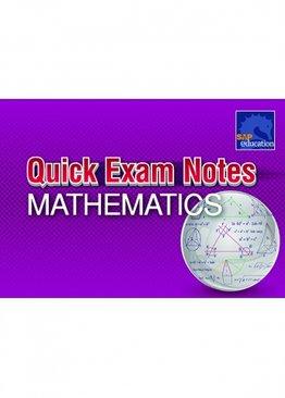 Quick Exam Notes Mathematics