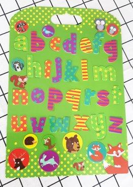 Woodland Animal Alphabet Board Stickabouts