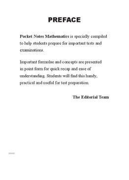 Pocket Notes Mathematics