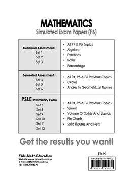 Mathematics Simulated Exam Papers P6