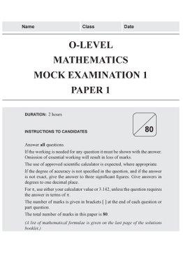 O-Level Mathematics Mock Examinations