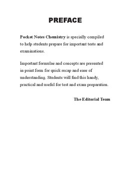 Pocket Notes Chemistry