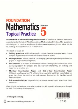 Foundation Maths Topical Practice 5