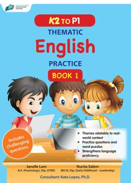 K2 to P1 Thematic English Practice Book 1