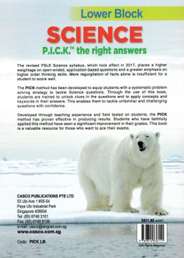Science P.I.C.K. the Right Answers Lower Block