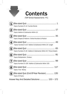 Maths Top School Assessments P1 (2021 Ed)