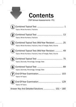 Maths Top School Assessments P5