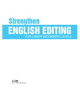 Strengthen English Editing For Lower Secondary Levels
