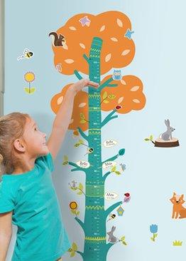Height Chart Tree - Reusable Glue-free