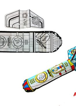 Science Educational Toy For Kids Play N Learn Party Gift Design and Inflate Rocket