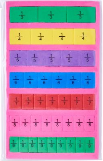 Math Skills Fun Learning Play N Learn Mini Fractions Kit 10 pieces per pack