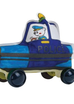 Creative Play N Learn Party Gift Craft Colorloon Colour and Inflate 3D Vehicle DIY Kit Police Car