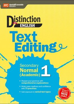 Distinction in English: Text Editing Secondary 1 Normal (Academic)