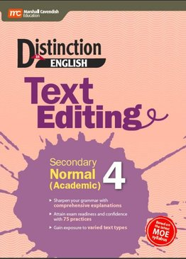 Distinction in English: Text Editing Secondary Normal (Academic) 4