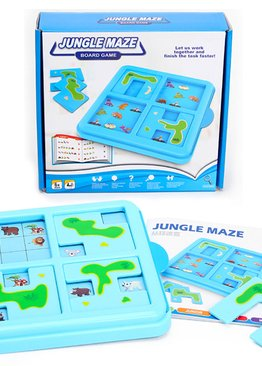 Board Game Stimulating Play N Learn Jungle Maze Fun Learning Game