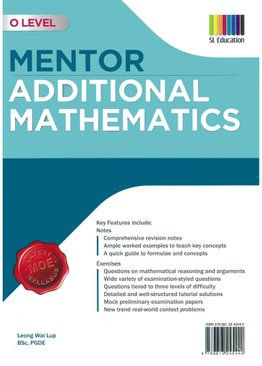 O Level Mentor Additional Mathematics (2020 Ed)