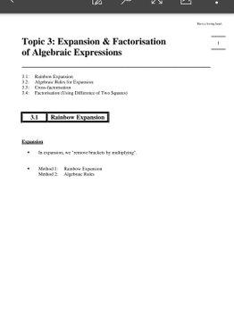 Exam Buddy Elementary Mathematics Sec 2 (2020 Edition) Topic 3: Expansion & Factorisation of Algebraic Expressions