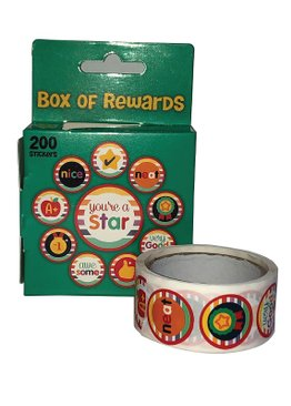 Teaching Resources Play N Learn Reward and Motivation Sticker in Green Box