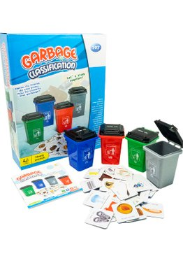 Science Play N Learn 707 Recycling Garbage Classification Learning Board Game