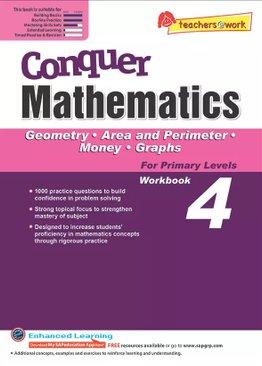 Conquer Mathematics Geometry - Area and Perimeter - Money - Graphs Book 4