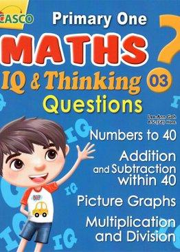 P1 Maths IQ & Thinking Questions Book 3