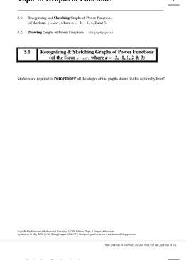 Exam Buddy Elementary Mathematics Sec 3 (2020 Edition) Topic 5: Graphs of Functions