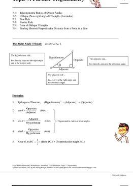 Exam Buddy Elementary Mathematics Sec 3 (2020 Edition) Topic 7: Further Trigonometry