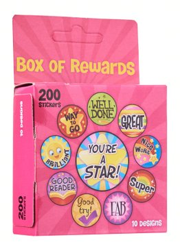 Teaching Resources Play N Learn Reward and Motivation Sticker in Pink Box
