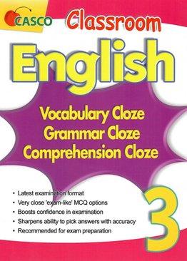 Classroom English Vocab/Grammar/ Comprehension Cloze 3