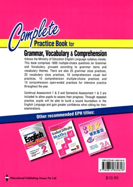 Complete Practice Book For Grammar, Vocabulary & Comprehension 2