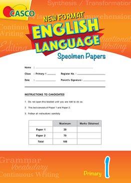 Primary 1 New Format English Language Specimen Paper
