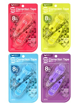 MINI CORRECTION TAPE 5MMX4M+4M - TWIN PACK