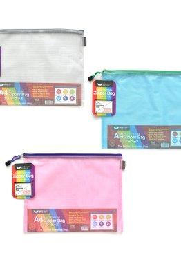 MESH PVC ZIPPER BAG A4