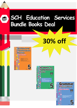 3-in-1 Primary 5  Grammar, Synthesis and Transformation & Vocabulary and Comprehension book bundle