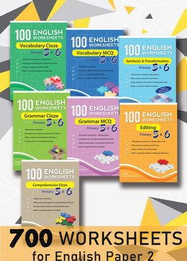 700 English Worksheets Primary 5 & 6 (7-book bundle)
