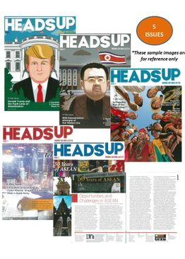 HEADS UP MAGAZINE PACK - 5 ISSUES