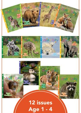 Wild Animal Baby - 12 issues in 1 Pack