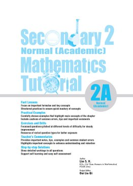 Secondary Two Normal [Academic] Mathematics Tutorial 2A