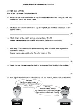 English Comprehension Practice Papers Secondary 1