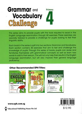 Grammar and Vocabulary Challenge P4